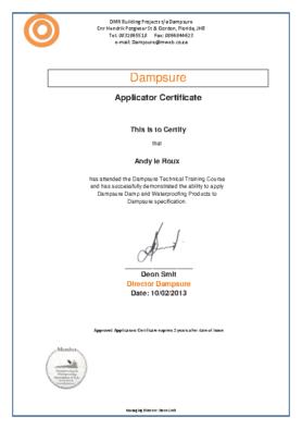 Applicator Certification